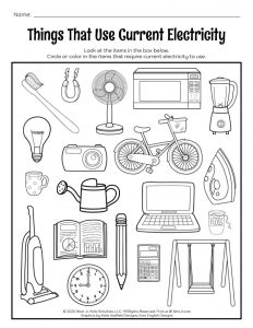 Things That Use Current Electricity Coloring Page