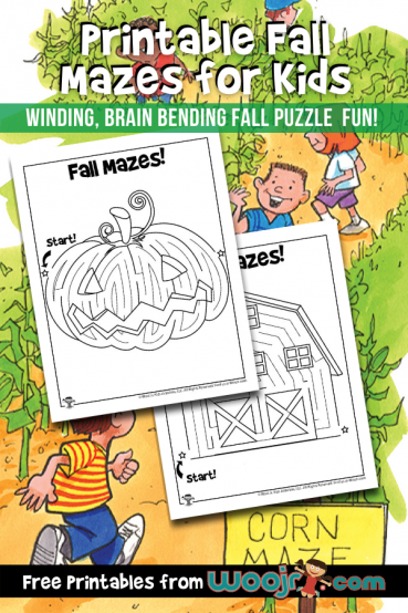 Printable Fall Mazes for Kids