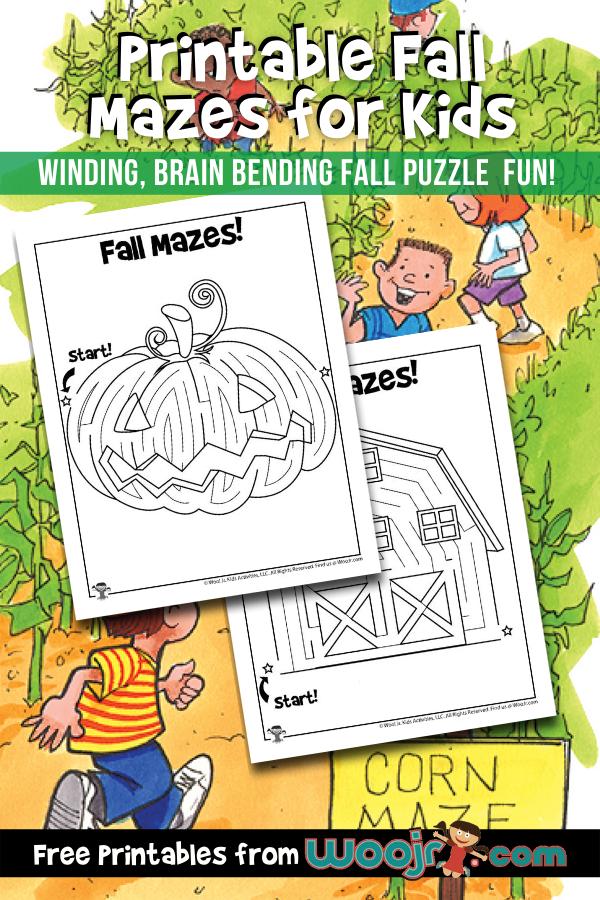 Printable Fall Mazes for Kids