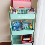 Homeschool Supply Cart Setup