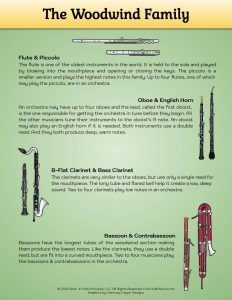 Woodwind Family Music Instruments Printable
