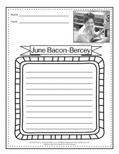 June Bacon-Bercey Meteorology Weather Lesson