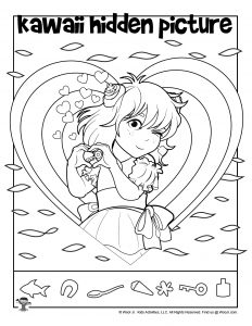 Kawaii Printable Hidden Picture Worksheet