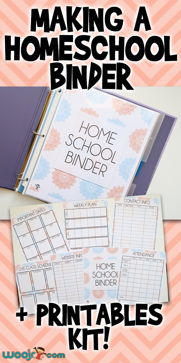 Making A Homeschool Binder & Printables Kit