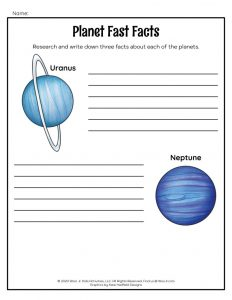 Planets Research Worksheet