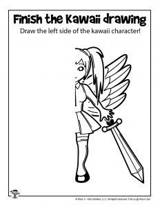 Printable Kawaii Drawing Page for Kids