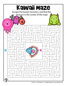 Printable Kawaii Maze Activity Page
