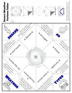 Severe Weather Fortune Teller Worksheet
