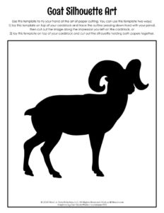 Goat Printable Silhouette Art Template