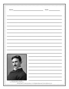 Learn About Electricity Nikola Tesla Worksheets