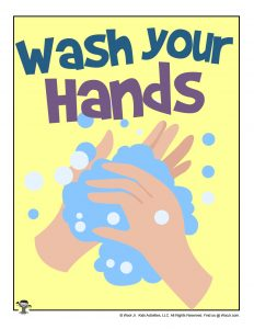 Wash Your Hands Printable Flyer for Classrooms