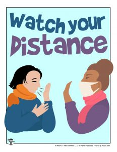 Watch Your Distance Classroom Printable for Teachers