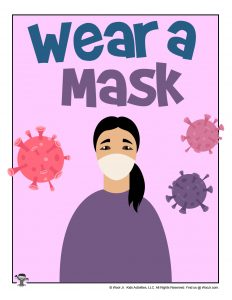 Wear a Mask Printable Poster