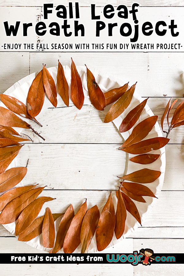Paper Plate Fall Wreath
