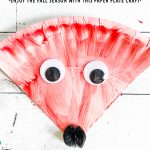 Painted Paper Plate Fox Craft