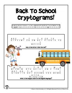 Cryptogram Riddle Word Puzzle