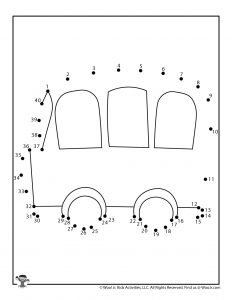 School Bus Dot to Dot Coloring Page