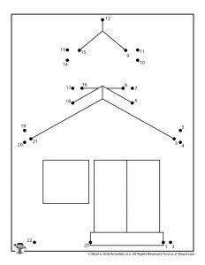 Schoolhouse Easy Connect Dots Activity Page