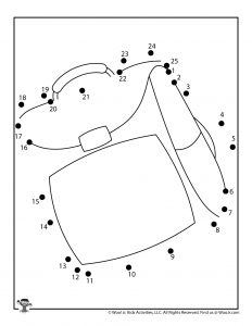Backpack Printable Connect the Dots
