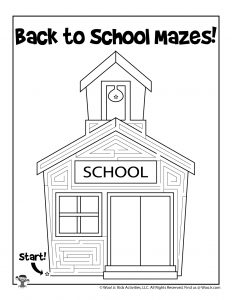 Schoolhouse Labyrinth Maze for Kids