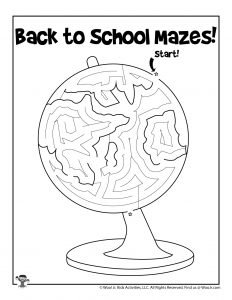 Classroom Globe Kids Activity Maze