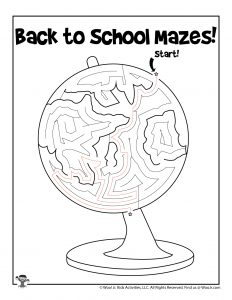 Earth Globe Back to School Activity - KEY