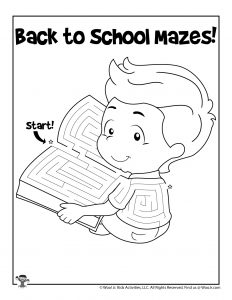 Student Reading Coloring Page for Kids