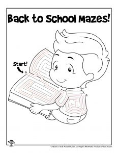 Student Reading Maze Puzzle - KEY