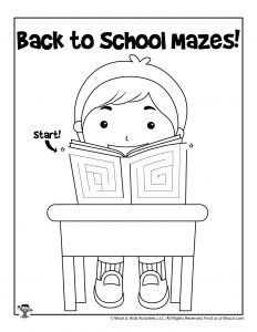 Back to School Student Maze Activity