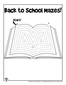 School Workbook Fun Maze for Kids