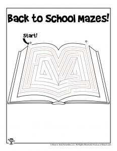 Maze Puzzle Activity Page - ANSWER KEY