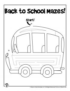 School Bus Maze Puzzle for Kids