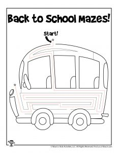 Back to School Bus - ANSWER KEY
