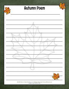 DIY Autumn Poem for Kids