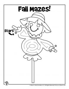 Scarecrow Fall Mazes for Kids