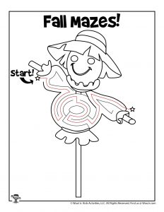 Scarecrow Fall Activity Page for Kids - KEY