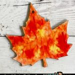 Finger Paint Leaf Craft for Kids