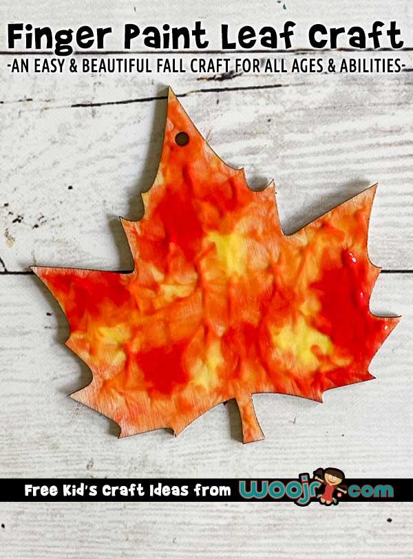 Finger Paint Leaf Craft for Kids