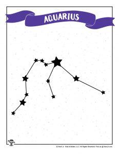 Aquarius Star Printable for Kids