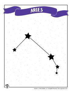 Aries Constellation Printable