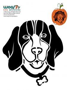 Beagle Dog Breed Pumpkin Stencil