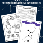 Constellation Worksheets & Lesson for Kids