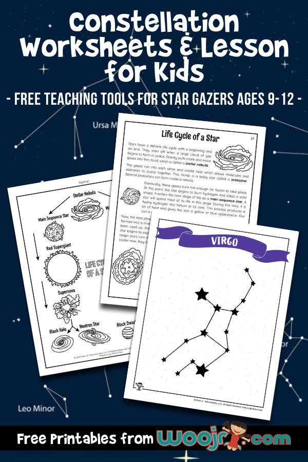 Constellation Worksheets & Lesson for Kids