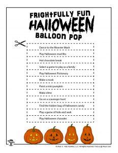 DIY Halloween Balloon Pop Game