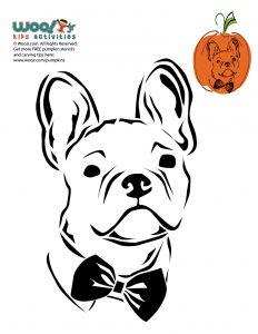 Free Printable Frenchie Pumpkin Stencil
