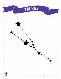 Free Taurus Star Chart