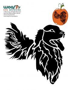 Golden Retriever Dog Breeds Pumpkin Stencil
