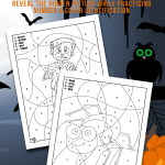 Halloween Color by Number Pages