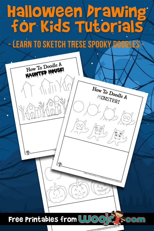 Halloween Drawing for Kids Tutorials