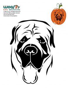 Halloween Stencil English Mastiff